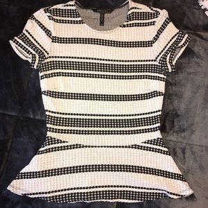 BCBG maxazria tight knit blouse